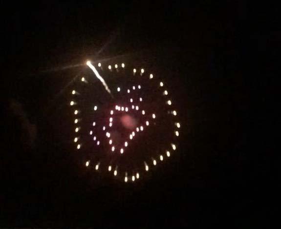 なんと夜にはあんきもんの花火が!
